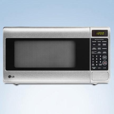 LG 1.1 cu. ft. Countertop Microwave with Round Cavity 15.9 depth New ...