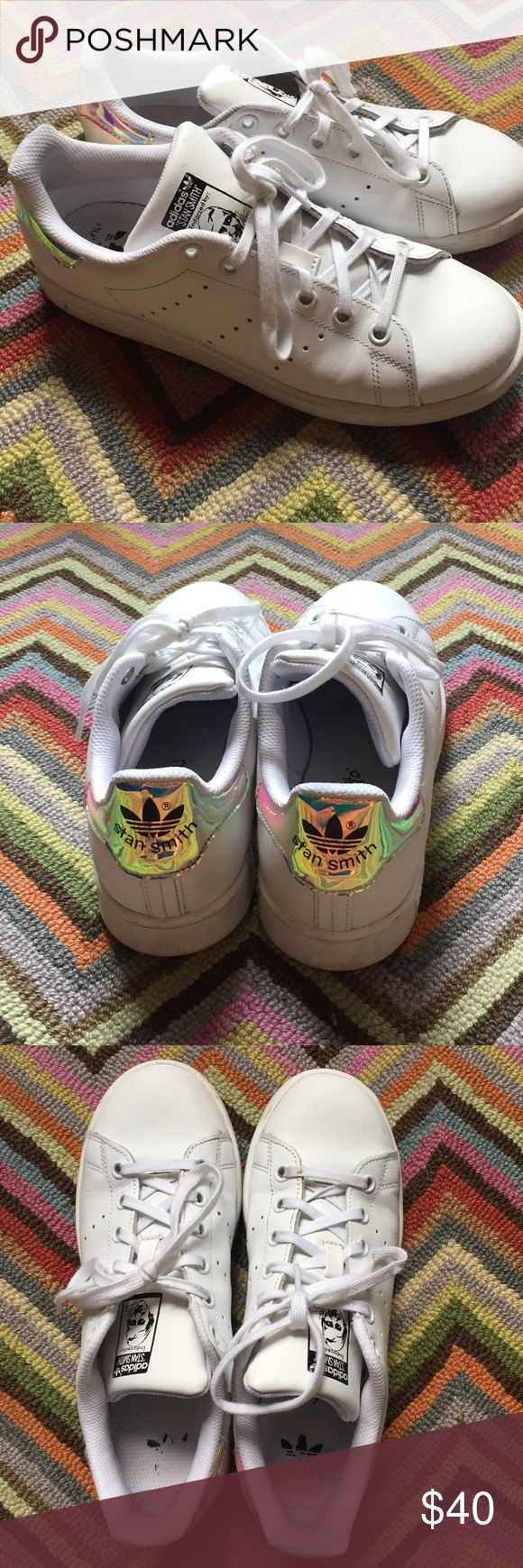 Stan Smith Sneakers with Iridescent heel LIMITED EDITION AND HARD TO FIND STAN SMITHS! Adidas Shoes Sneakers