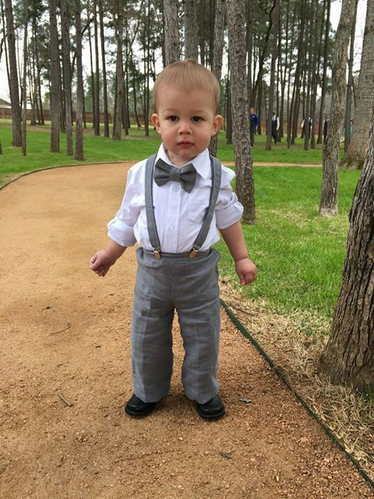 Linen Ring Bearer Outfit 3 Piece Set Ring Bearer by TwoLCreations