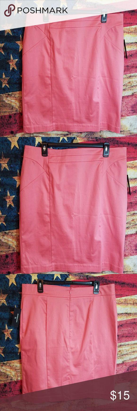 Worthington skirt Coral color skirt size 18 Worthington Skirts Pencil