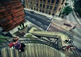 Escalier du Faubourg;  un des trente escaliers reliant la basse ville à la haute ville
