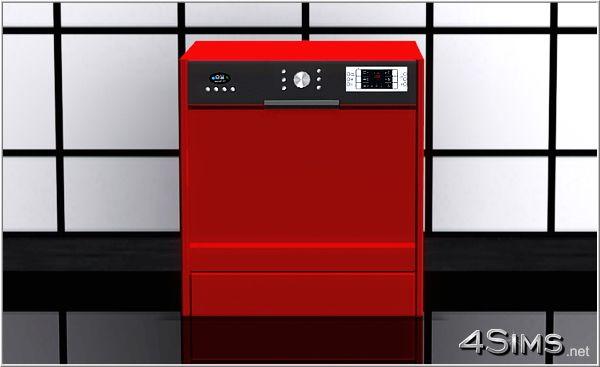 Modern dishwasher by Mrel at 4Sims
