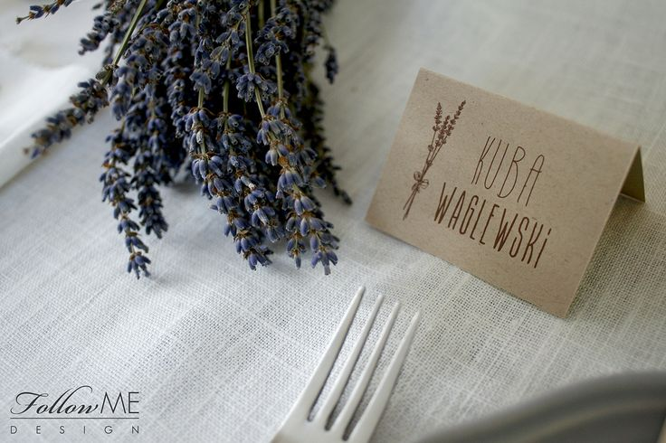 Winietki  / Rustykalne Dekoracje ślubne od FollowMe DESIGN / Wedding Place Card / Rustic Wedding Decorations with Lavender & Details by FollowMe DESIGN