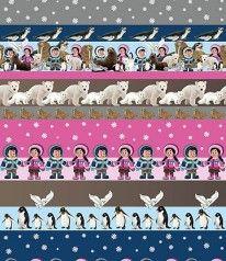 STENZO DIGITALDRUCK Polar Eskimo World Pink Blau Mint