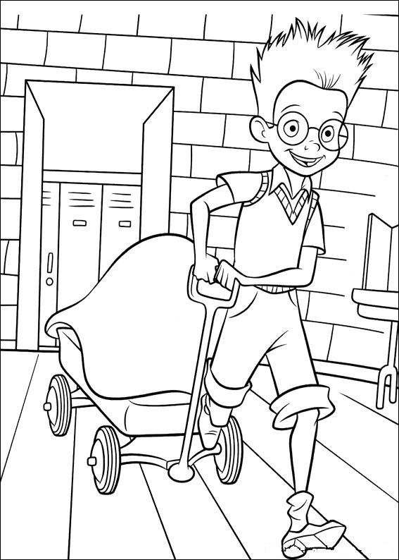 This boys reminds me of Will.  I love it : ) coloring page Meet the Robinsons - Meet the Robinsons