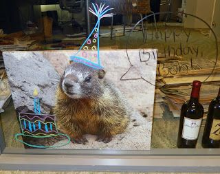 Eclectic Design Choices - Designs for Your Life Marmot Photographic Art Gallery Wrapped Canvas with customer added humorous birthday wishes added that transformed it into a really fun conversation piece.