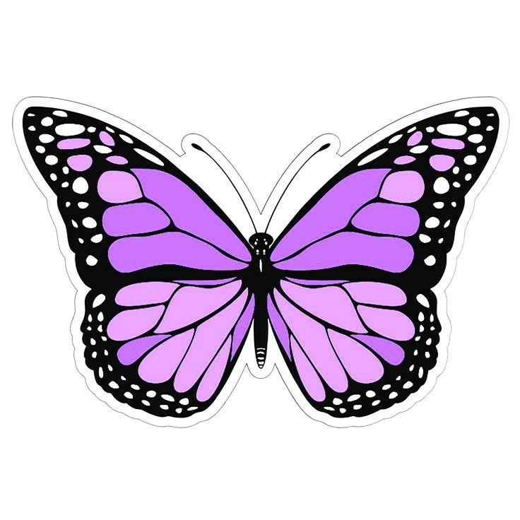 purple butterfly sticker   Purple butterfly wallpaper ...