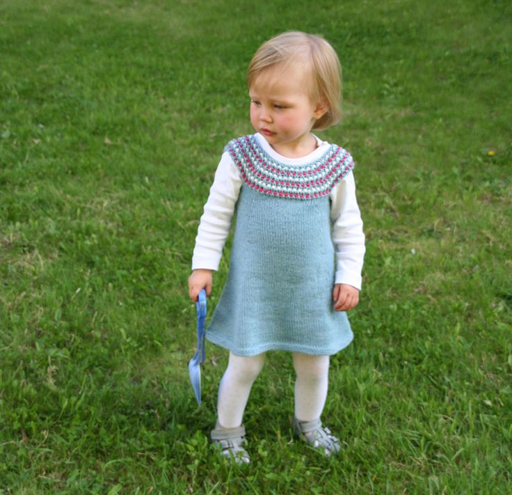 Impress dress - free knitting pattern - Pickles - free baby and toddlers