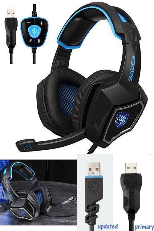 Ear Force Stealth 7.1 Surround Sound Over-the-Ear Noise Isolating USB Headphone #Sades
