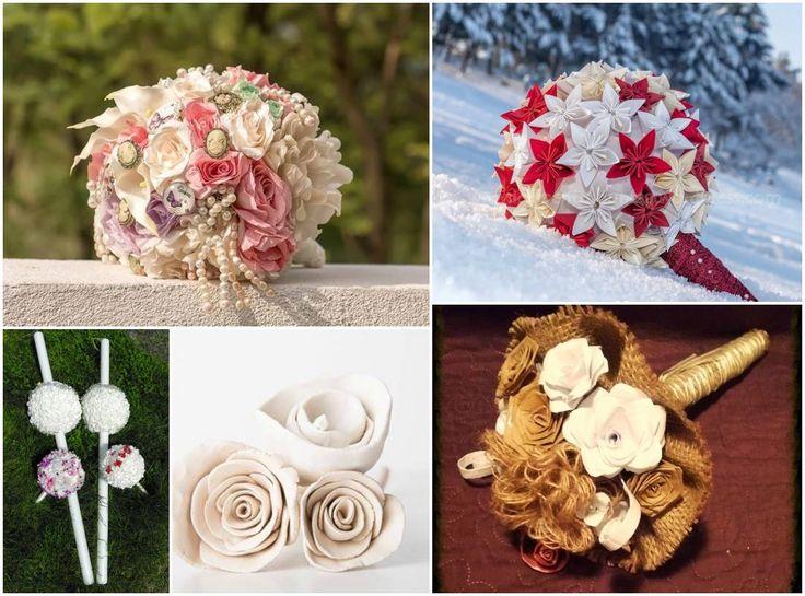 In organizarea unei nunți, subiectul cel mai drăguț și mai important pentru mireasă, după propria rochie, este buchetul. Inventivitatea creatorilor și curajul miresicilor a adus în atenție câteva idei uimitoare de buchete de mireasă. Din materiale textile, bijuterii, hartie creponată sau rulată (quilling), porțelan... and sky is the limit!