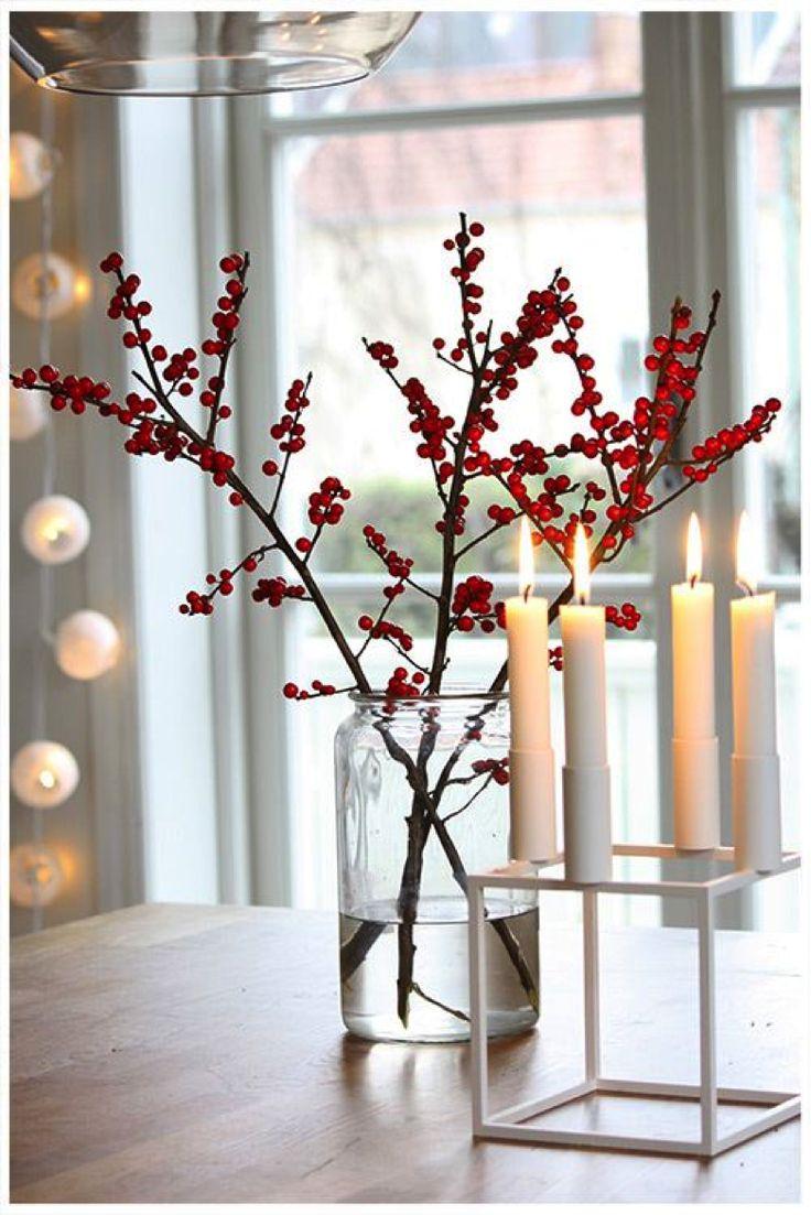 Rote Ilex für die Feststtimmung - Tollwasblumenmachen.de  #weihnachten #ilex #fröhlicheweihnachten #christmas  #dekoration #weihnachtsdeko #christmasdeco