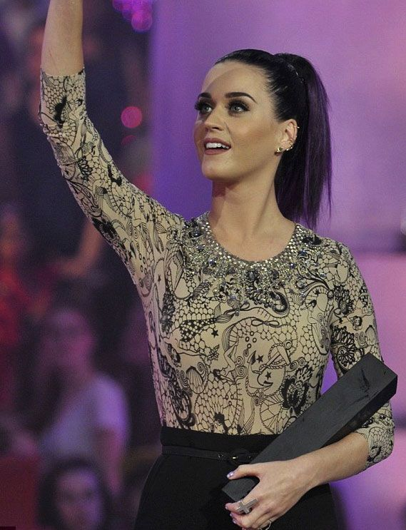 KATY PERRY: wearing bebaroque Tattooed lady Lux Body Suit