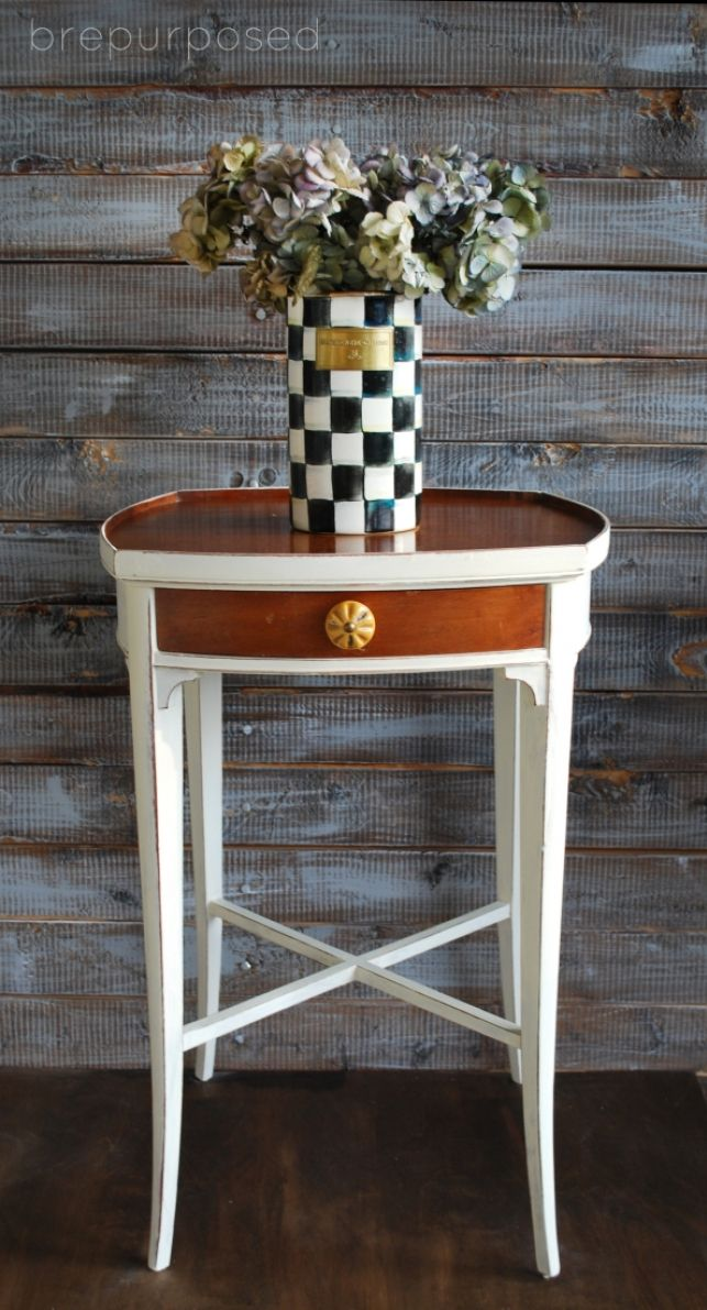Two Toned Night Stands   brepurposed
