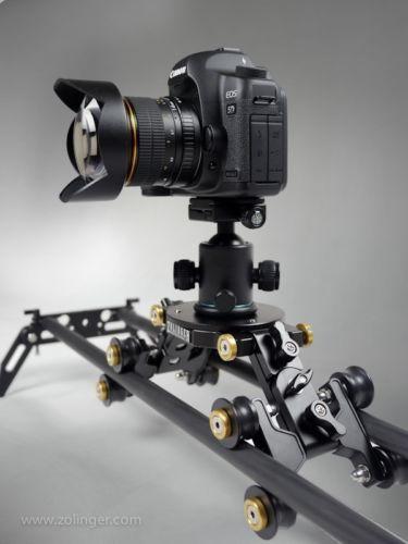 "Zolinger 63"" Camera Slider ZL1600 Carbon Fiber DSLR Glidetrack Dolly Rail Track   eBay"