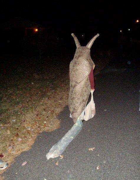slug costume. Of course, I once made a huge mug o' beer costume.  I think those two would go together nicely.  Heh heh heh...