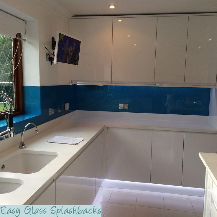 Royal Blue Kitchen: 19 Best Images About Blue Glass Splashbacks On Pinterest