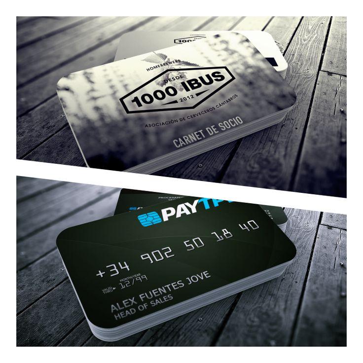 tarjetas de visita, tarjetas de presentación, en soporte plástico, idéntico a las tarjetas bancarias
