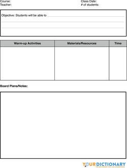 Writing lesson plan template elementary for Lesson plan template for esl teachers