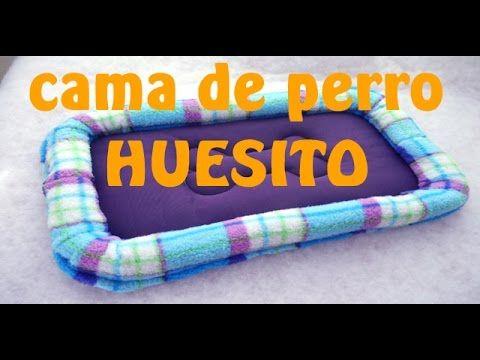 Cómo hacer cama de perro rectangular HUESITO Tutorial Inerya viris - YouTube