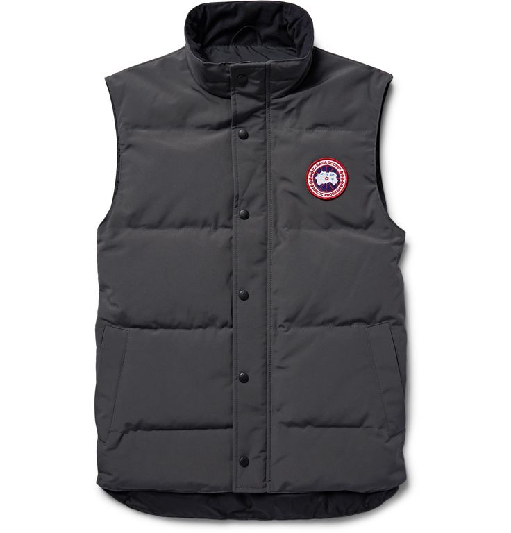 Tackle unpredictable weather in style with <a href='http://www.mrporter.com/mens/Designers/Canada_Goose'>Canada Goose</a>'s 'Garson' gilet. It's cut from the brand's water-resistant Arctic Tech fabric and is filled with lightweight, supremely insulating down. The deep graphite hue is just as wearable as black.