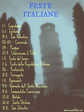 Learning italian - Italian Holidays