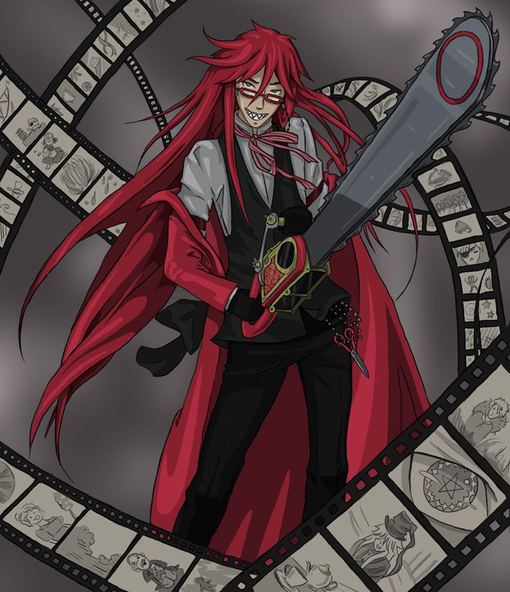 Grell Sutcliff. One of my favorite anime characters, because he's just so... nope nothing describes Grell