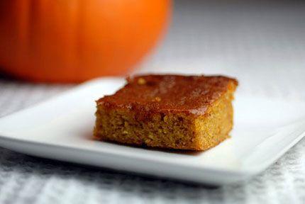 Weight Watchers Low Fat Pumpkin Bars recipe – 4 points