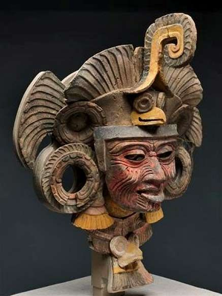 Teotihuacan, Mexico – Mask from an Incense Burner Portraying the Old Deity of Fire