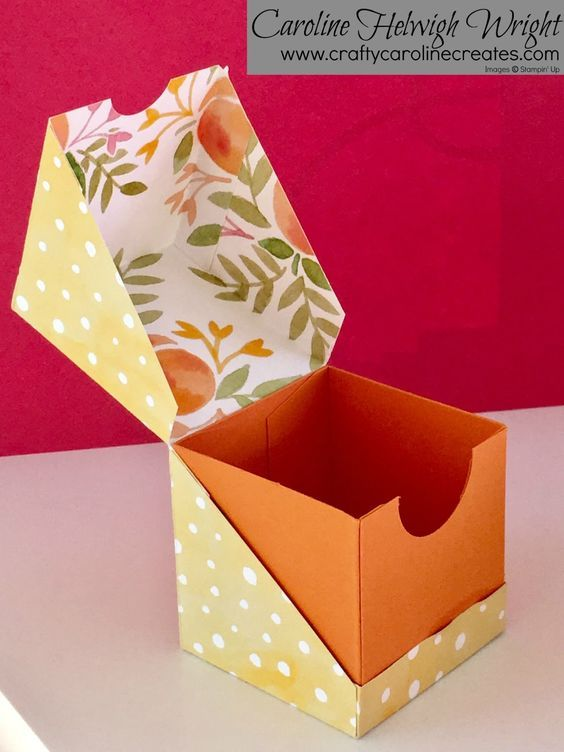 Diagonal Opening Gift Box - Video Tutorial with Stampin' Up Products.