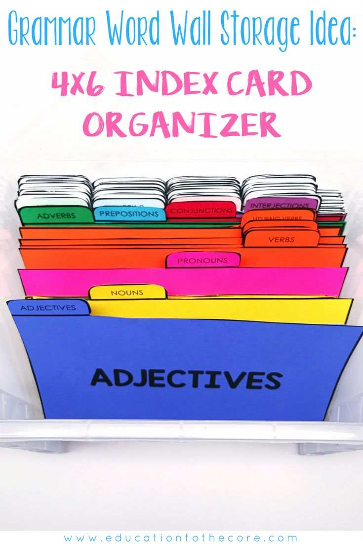 Grammar Word Wall Organizer Idea