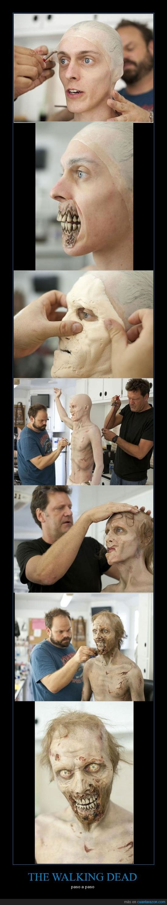 THE WALKING DEAD Behind the scenes look at the transformation from Human to Walker.