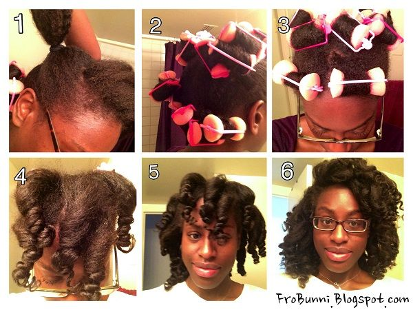 Kami's foam roller set on her natural hair - http://www.blackhairinformation.com/community/hairstyle-gallery/natural-hairstyles/kamis-foam-roller-set-natural-hair/