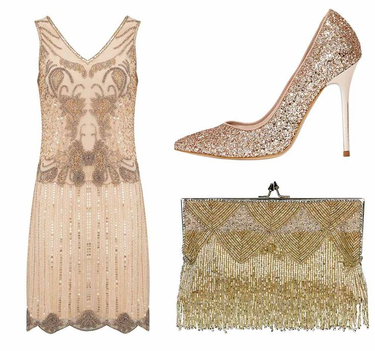 This theme is all about the look, and the best way to start that off is with a killer vintage dress and Pretty Eccentric has hit the nail on the head with this design.  Pair the beaded beauty with an equally stunning Debenhams bag and sparkly Office heels.