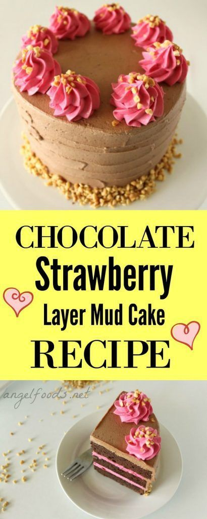 Chocolate Strawberry Layer Mud Cake Recipe | Chocolate strawberry is such a popular flavour combination and was a big seller in my cake business. This recipe is extremely easy, great flavour and stays rich and moist for a long time!
