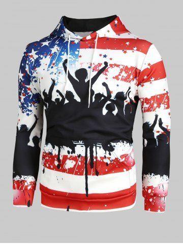 American Flag Audience Print Christmas Hoodie -  - #American #Audience #Christmas #flag #Hoodie #Print
