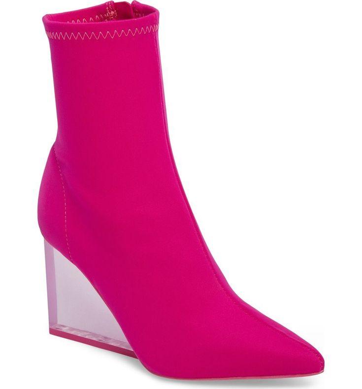Siren Clear Wedge Sock Bootie