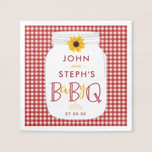 BBQ Baby Shower Napkins, BaByQ Barbeque Party Napkin
