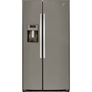 GE Energy Star 25.4 Cubic Feet Side-by-side Refrigerator | Overstock.com Shopping - The Best Deals on Refrigerators