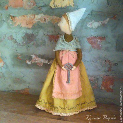 Купить Средневековые сказки - коричневый, интерьерная кукла, кукла ручной работы, братья гримм, средневековье