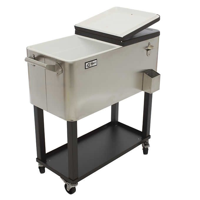 TRINITY Stainless-steel Cooler with Shelf