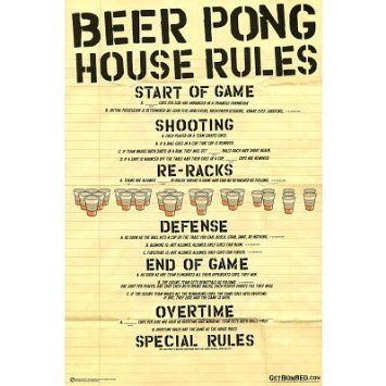 Beer Pong Rules. Click for more Beer Pong!