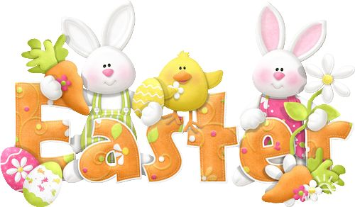 Rótulos del Clipart Pascua en Primavera.