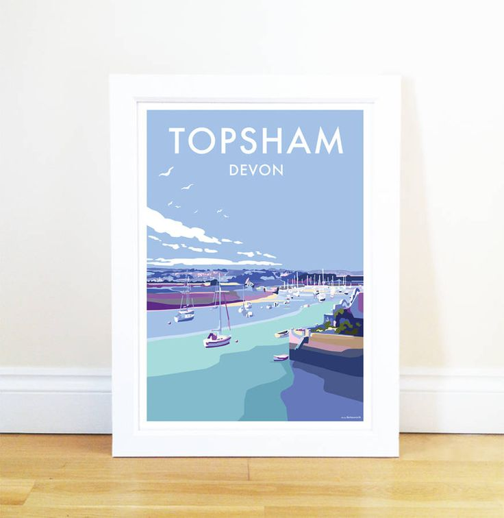 A stunning and original poster print produced by Devon artist Becky Bettesworth. The A2 print is hand rolled and posted in a carboard tube. The A4 print is cardboard backed in a cellophane envelope.Available in 2 sizes; A2 or A4 both unframed. Perfect as a gift for you, your family or friends as a momento of a special place or a great holiday spent in the West Country. Fun and vibrant, it will look great on any wall, in any room of the house! The smaller A4 size works well in numbers…