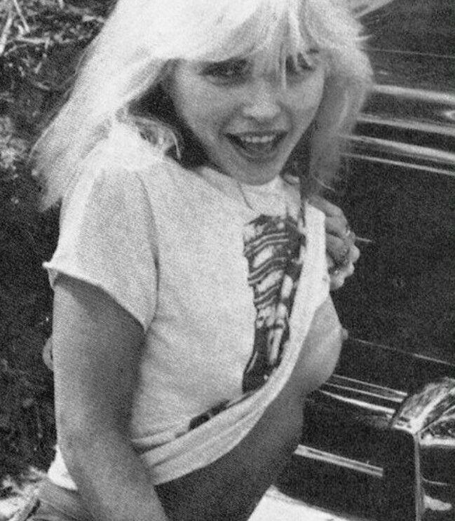 A cheeky Debbie Harry