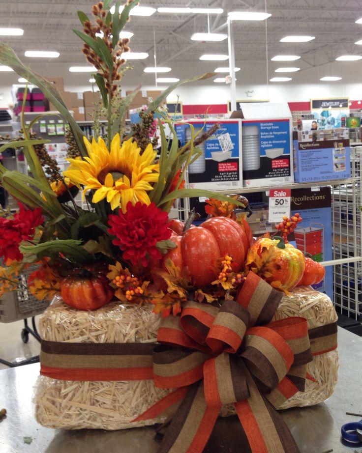 Image result for harvest flower arrangement FALL DECORATION - michaels halloween decorations