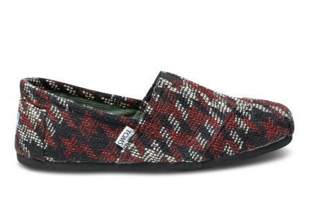 Considering getting these for my husband for Christmas <3 Burgundy Houndstooth Men's Classics by TOMS $54