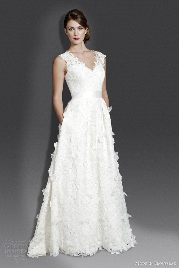 Modern Trousseau Wedding Gown - Indigo - Fall 2014 Collection - (weddinginspirasi)