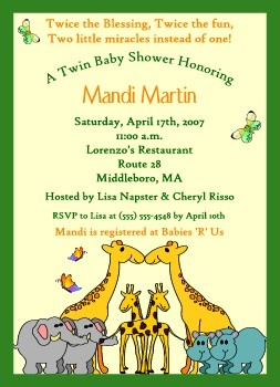 Baby shower invite for twins