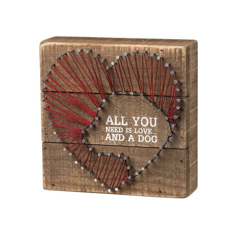 Love & A Dog String Art