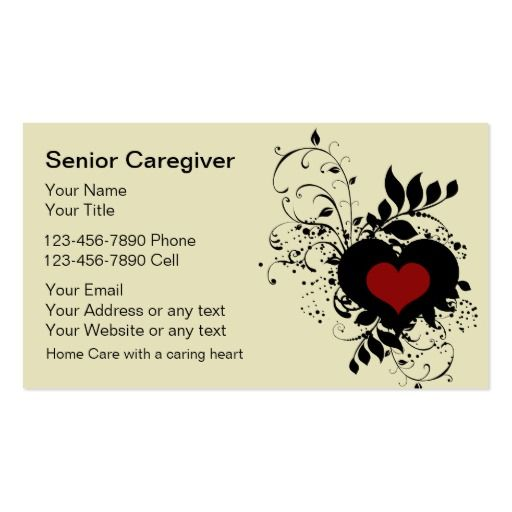 1000+ Images About Caregiver Business Cards On Pinterest